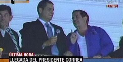 Alegría en Ciego de Ávila por regreso del presidente de Ecuador.