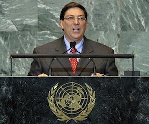 Canciller cubano en ONU: El presidente Obama tiene la oportunidad de iniciar una nueva política hacia Cuba